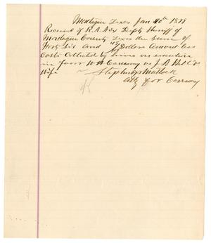 "Primary view of object titled '[Receipt from Stephens and  Matlock to R. A. ""Bob"" Nix, January 20, 1879]'."