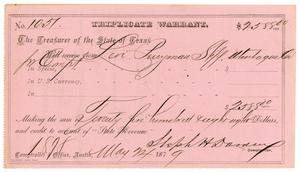 Primary view of [Triplicate Warrant, May 24, 1879]