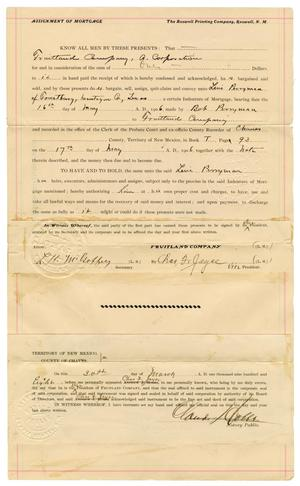 [Assignment of Mortgage, April 6, 1908]