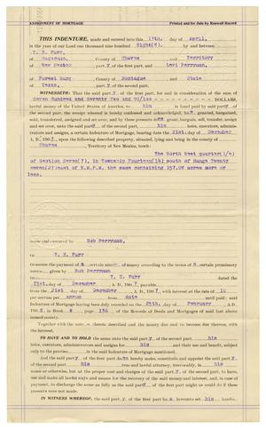 [Assignment of mortgage, April 13, 1908]