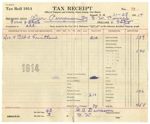 Primary view of object titled '[Tax Receipt, November 28, 1914]'.