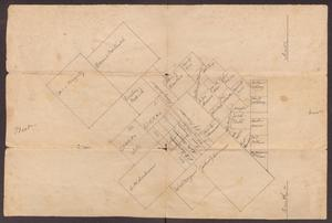Primary view of object titled '[Map of Family Land Plots, undated]'.