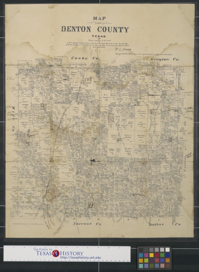 Map of Denton County Texas The Portal to Texas History
