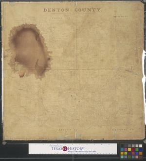 Primary view of object titled 'Denton County.'.