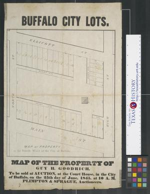 Primary view of object titled 'Map of Property in the Fourth Ward of the City of Buffalo.'.