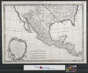 Primary view of Carte du Mexique ou de la Nlle. Espagne contenant aussi le Nouveau Mexique, la Californie, avec une partie des pays adjacents