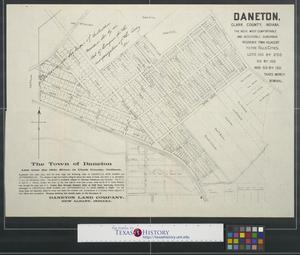Primary view of object titled 'The Town of Daneton.'.