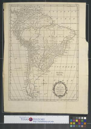 Primary view of object titled 'Map of South America for the Rev. Dr. Robertson's History of America by Thos. Kitchin Senr. Hydrographer to his Majesty.'.