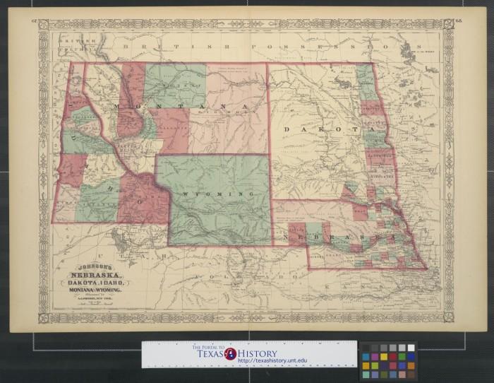 Johnson S Nebraska Dakota Idaho Montana And Wyoming The