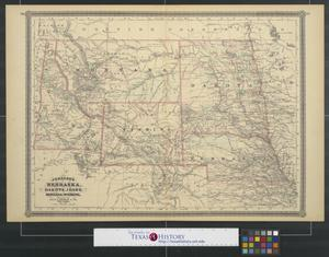Primary view of object titled 'Johnson's Nebraska, Dakota, Idaho, Montana, and Wyoming.'.
