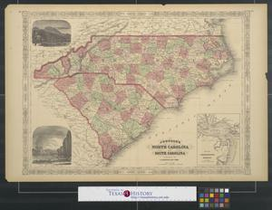 Primary view of object titled 'Johnson's North Carolina and South Carolina.'.