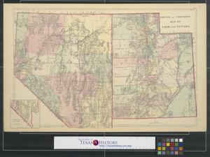 Primary view of object titled 'County and township map of Utah and Nevada.'.