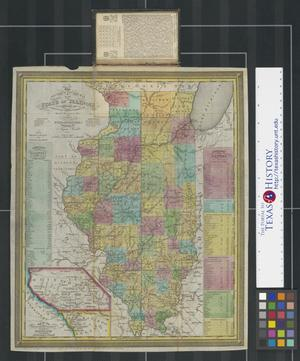 Primary view of The tourist's pocket map of the State of Illinois: exhibiting its internal improvements, roads distances &c.