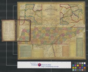 Primary view of object titled 'The tourist's pocket map of the state of Tennessee exhibiting its internal improvements, roads, distances, &c.'.