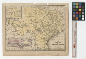 Primary view of object titled 'Map of the state of Texas: engraved to illustrate Mitchell's School and family geography.'.