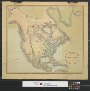 Primary view of object titled 'A new map of North America from the latest authorities.'.