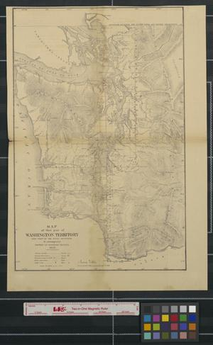 Primary view of object titled 'Map of that part of Washington Territory lying west of the Rocky Mountains'.