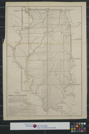 Primary view of object titled 'Diagram of the state of Illinois accompanying report of the 30th October 1852'.