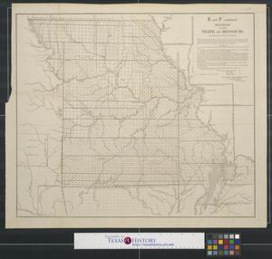 Primary view of object titled 'Diagram of the state of Missouri.'.