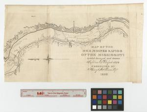 Primary view of object titled 'Map of the Des Moines rapids of the Mississippi.'.