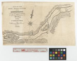 Primary view of object titled 'Map of the Rock River rapids of the Mississippi.'.