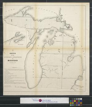 Primary view of object titled 'Sketch of the public surveys in Michigan'.