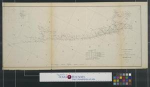 Primary view of object titled 'Sketch I, showing the progress of the survey in section no. IX from 1848 to 1857.'.