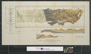 Primary view of object titled 'Geology of the forty-ninth parallel sheet no. 1, map 74 A.'.