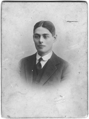 [Portrait of Lamar Fleming as a young man]