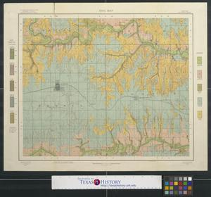 Primary view of object titled 'Soil map, Kansas, Russell County'.