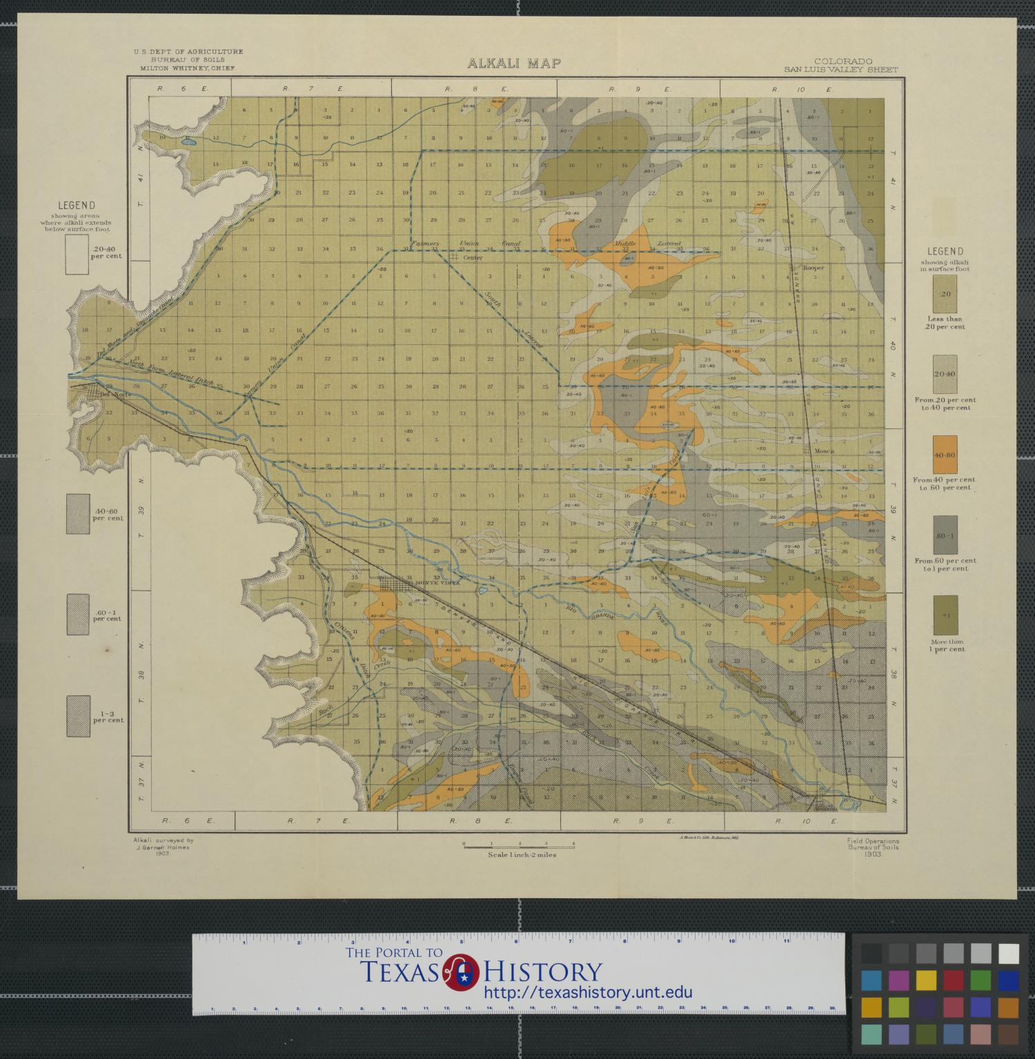Alkali map, Colorado, San Luis Valley                                                                                                      [Sequence #]: 1 of 2