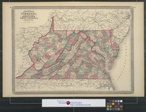 Primary view of object titled 'Johnson's Virginia, Delaware, Maryland and West Virginia.'.