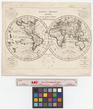 Primary view of Mappe-monde divisée en ses quatre parties.