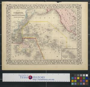 Primary view of object titled 'Map of Oceanica, exhibiting its various divisions, island groups, [etc.]'.