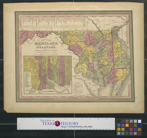 Primary view of object titled 'A new map of Maryland and Delaware.'.
