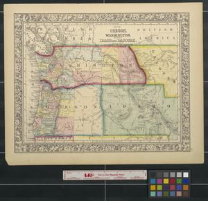 Primary view of object titled 'Map of Oregon, Washington, and part of Idaho and Dacotah.'.