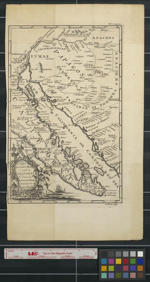 Primary view of object titled 'An accurate map of California drawn by the Society of Jesuits and dedicated to the King of Spain'.
