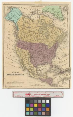 Primary view of object titled 'Map of North America.'.