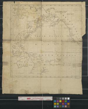 Primary view of object titled 'A chart shewing [sic] the tracks and discoveries in the Pacific ocean made by Capt. Cook and Capt. Clerke in His Majesty's ships Resolution and Discovery, in the years 1777, 1778, 1779, 1780.'.
