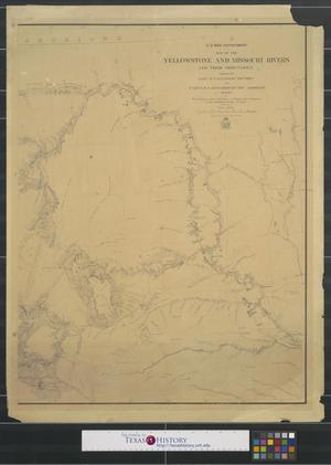 Primary view of object titled 'Map of the Yellowstone and Missouri Rivers and their tributaries: explored by Capt. W.F. Raynolds and 1st Lieut. H.E. Maynadier.'.