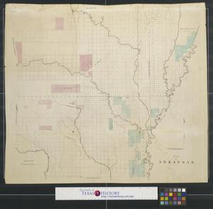 Primary view of object titled 'Map of Arkansas.'.