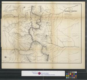 Primary view of object titled 'Map of Colorado territory.'.