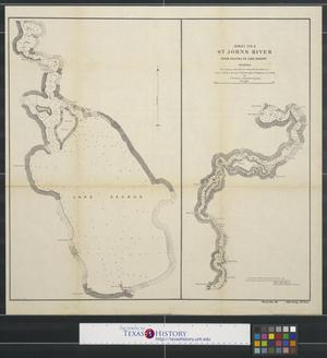 Primary view of object titled 'St. Johns River from Palatka to Lake Harney Florida [Sheet no. 2]'.