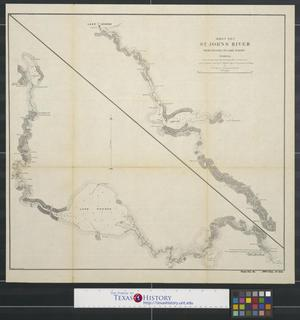 Primary view of object titled 'St. Johns River from Palatka to Lake Harney Florida [Sheet no. 1]'.