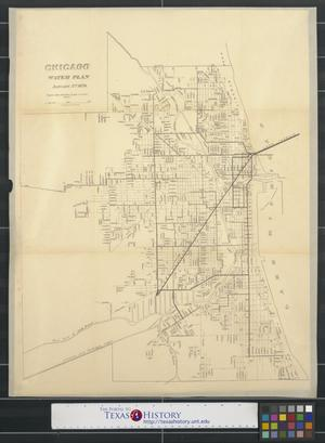 Primary view of object titled 'Chicago water plan'.