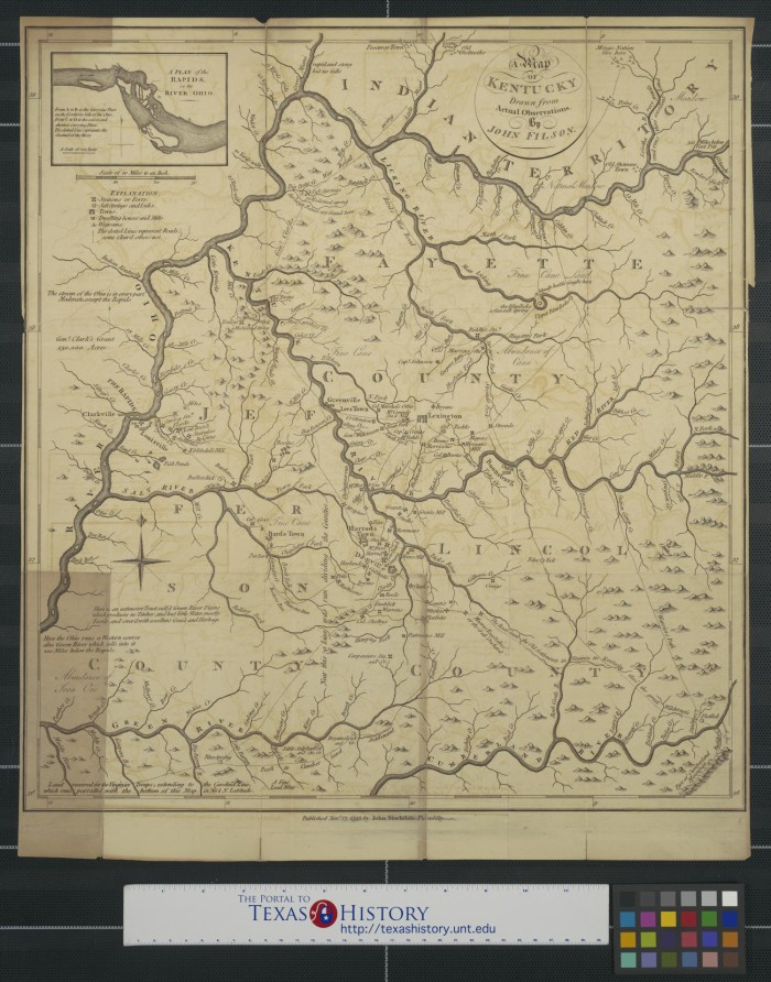 A Map Of Kentucky Drawn From Actual Observations By John - Physical map of kentucky