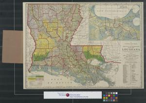 Primary view of object titled 'The Louisiana State Board of Agriculture and Immigration's map of Louisiana.'.