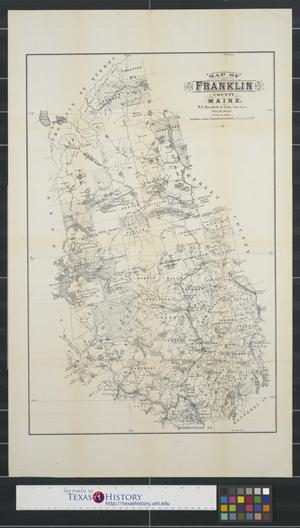 Primary view of object titled 'Map of Franklin County Maine.'.