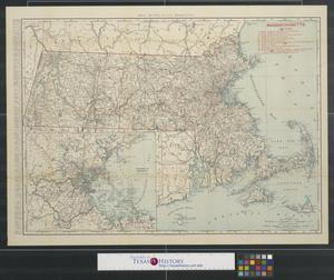 Primary view of object titled 'Rand, McNally & Co.'s Massachusetts.'.