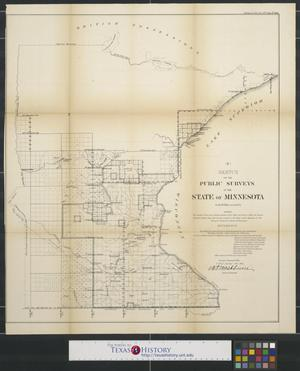Primary view of Sketch of the public surveys in the state of Minnesota